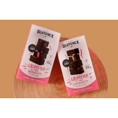 Glutenex zselés cukor csokiban - citromos 350g