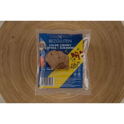 Bezgluten gluténmentes barna kenyér tökmaggal és vörös áfonyával 200g