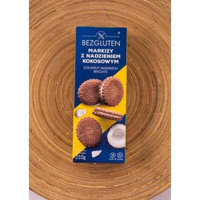 Bezgluten gluténmentes kókuszos krémmel töltött keksz 210g