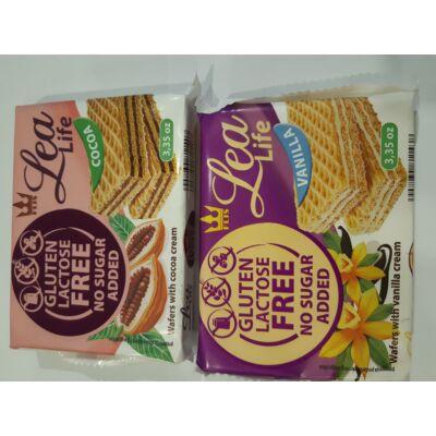 Lea Life glutén-laktózmentes vaníliás ostya 95g