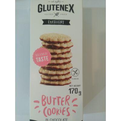 Glutenex vajas keksz csokoládéban