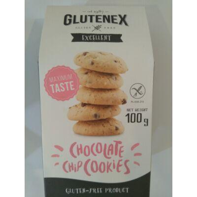Glutenex keksz csokoládé darabokkal 100g