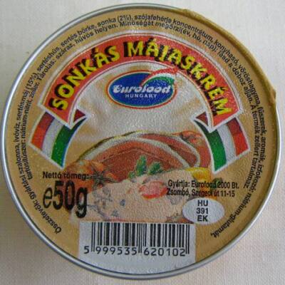 Eurofood Sonkás májaskrém 50g