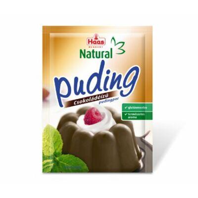 Haas csokoládé ízű pudingpor 44g