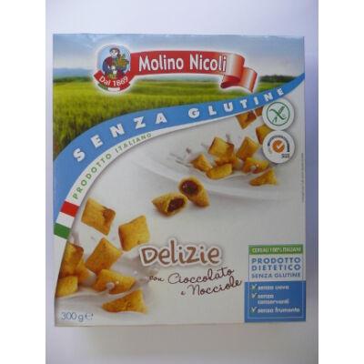 Nicoli csokoládés- mogyorós krémmel töltött reggelizőpehely 300g